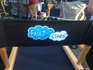 John Green's chair on the set of In the Fault of Our Stars