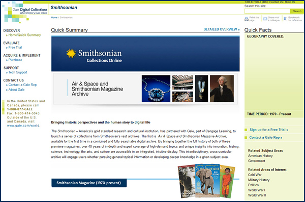 SLJ Reviews Air & Space Smithsonian Magazine Archive Database
