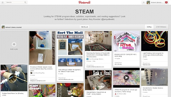 STEAM, a Pinterest Board