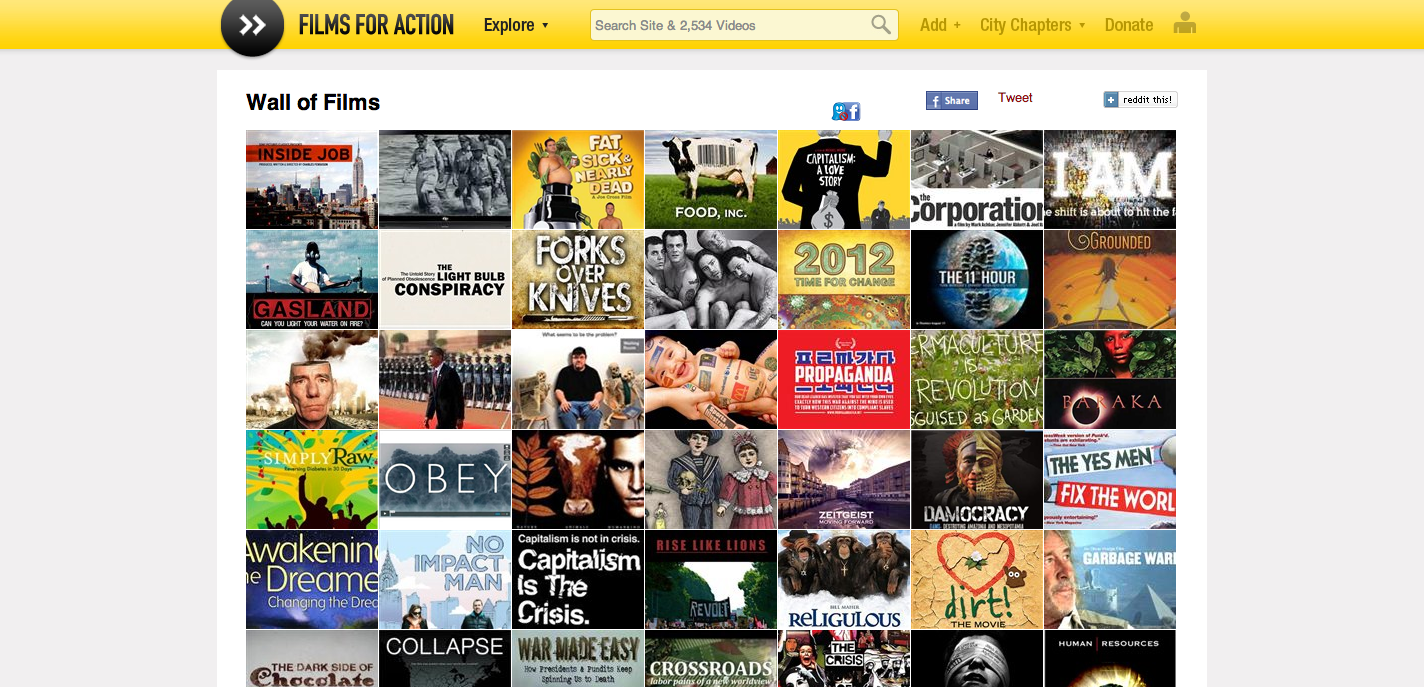 Hitting a Wall of Films (documentaries for inspiring thought and action)