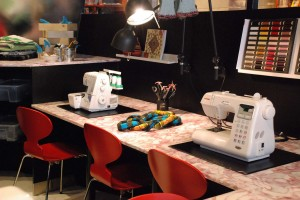 tiotretton sewing 300x200 Stockholm's Tio Tretton Library Gives Tweens a Space of Their Own