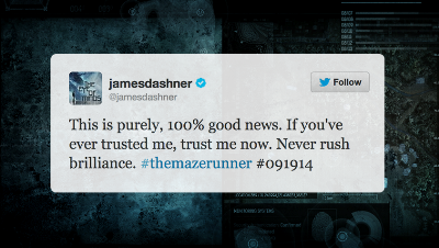 The Maze Runner author James Dashner tweeted fans about the move in the premiere date.