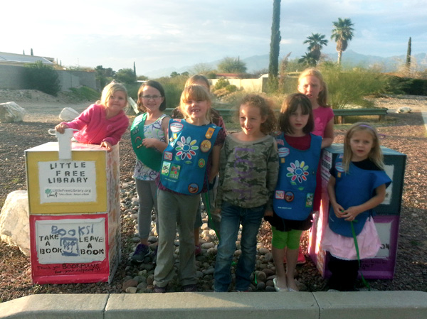 In Arizona, After Girl Scouts' Library Project Set on Fire, Public Support Pours In