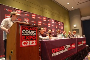 "The ""Diverse Worlds"" panel at the Chicago Comics and Entertainment Expo in May."