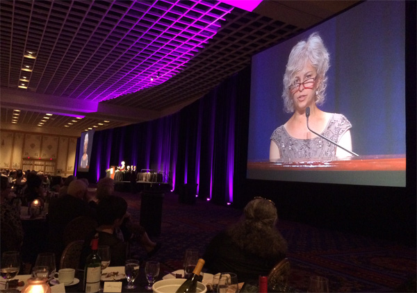 Newbery winner Kate DiCamillo at the Newbery-Caldecott banquet. Photo by Robin Brenner.