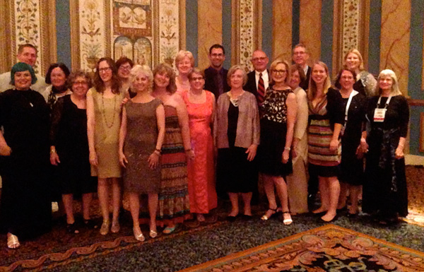 Newbery and Caldecott Award winners, honorees, and judges. Photo by Robin Brenner.