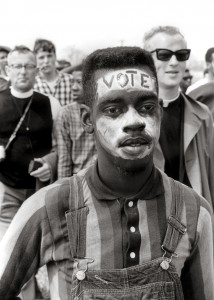 Bobby Simmons, 17 Years Old, Marches for the Vote, 1965. Photo by Matt Herron www.takestockphotos.com
