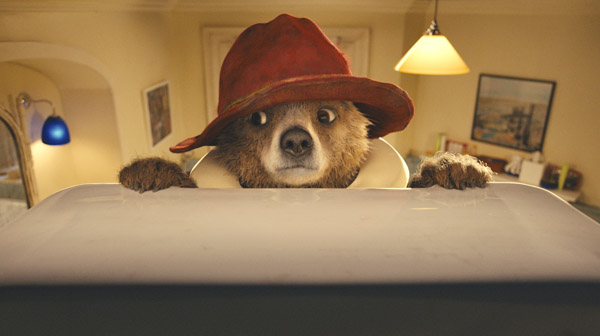A puzzled Paddington, as seen in Paddington (The Weinstein Company)