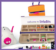 SLJ Reviews LittleBits: These bright, appealing sets encourage tinkerers to explore electronics