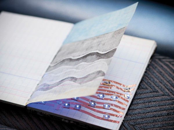 Natalie Freed's ocean-themed sketchbook. Photo Courtesy of NEXMAP
