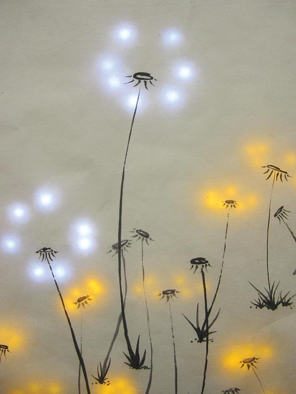 Pu Gong Ying Tu (Dandelion Painting) by Jie Qi. Photo courtesy of Jie Qi