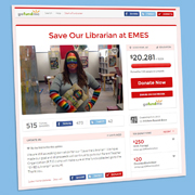Online Crowdfunding Saves AZ School Librarian's Job