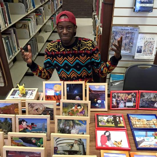 Jeffrey Osborne, a local artist who sold his art at the show. Photo by Kelly Gordon of Night and Day Anime Studios.