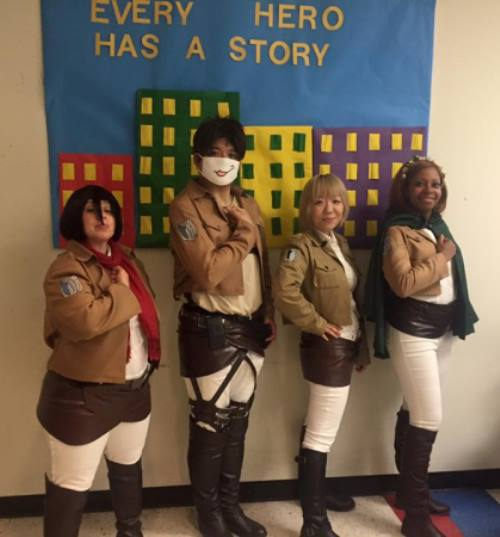 The North Jersey Anime and Manga Meetup Group (Attack on Titan cosplay). Photo by Holly Siederer