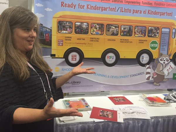 At the 2015 ALA Annual Conference in San Francisco, Cheryl Space from Providence Community Library talks about prekindergarten outreach and programming designed to help families increase school preparedness.