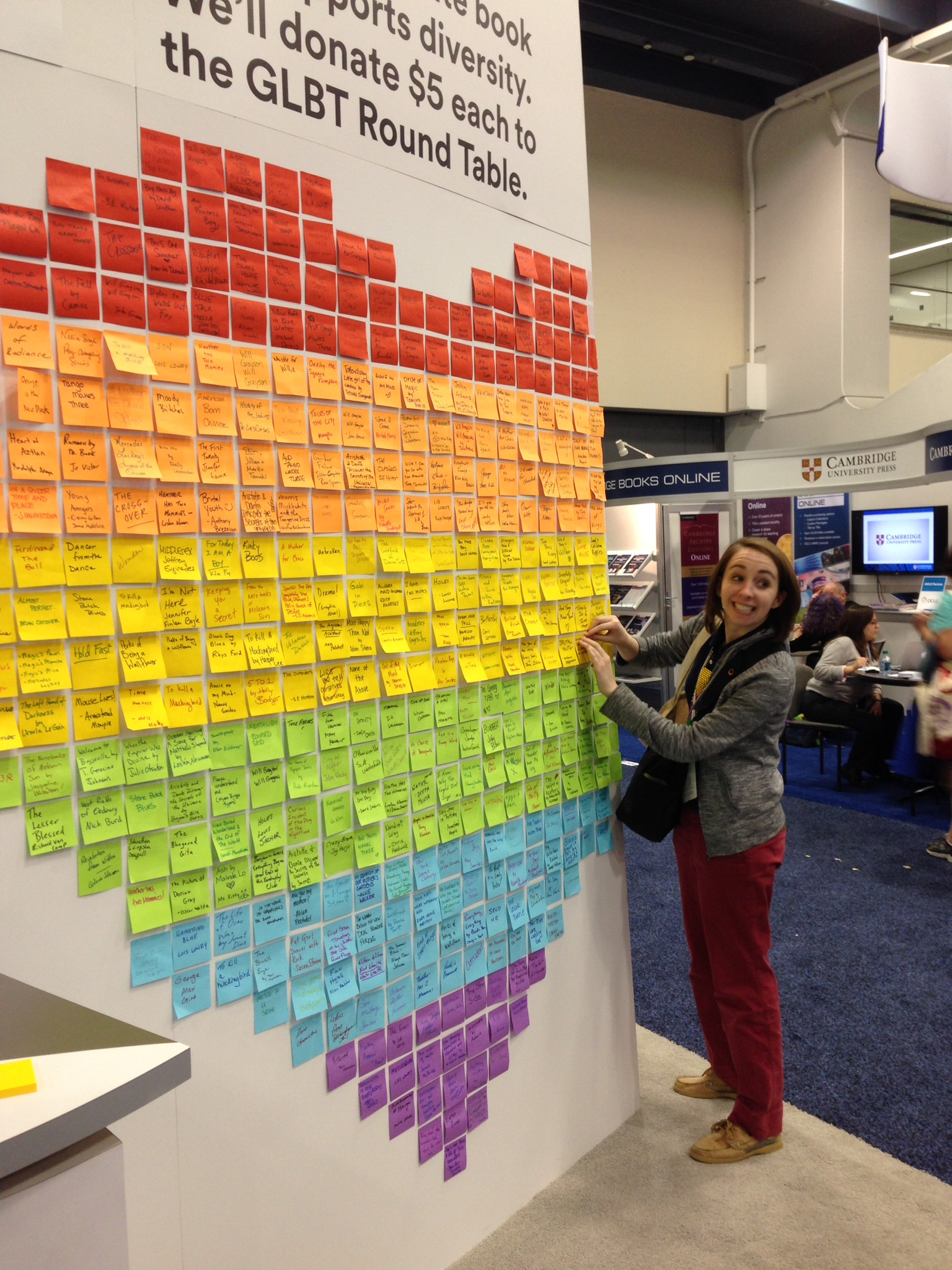Pictures of the Week: 3M's Post-It 'Partner for Pride' Wall