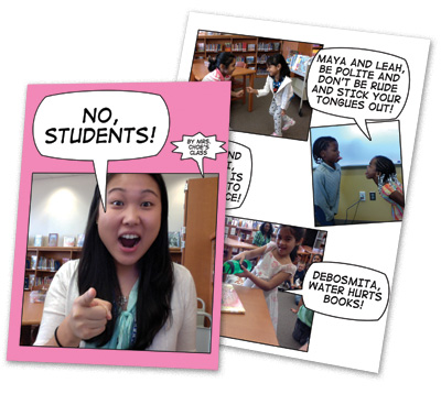 Matthew Winner's students create rule books with the app Comic Life.