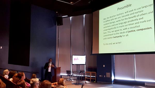Tatum leads a presentation