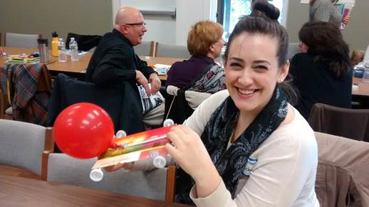 Cailie Hafener, East Moriches (NY) Middle School librarian, thought the rocket racer was a doable low-tech project for her students.