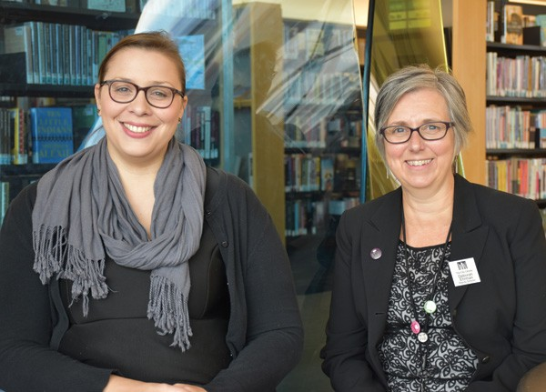 Salt Lake City Library teen services coordinator Christina Walsh (left) and deputy director Deborah Ehrman. Courtesy of Salt Lake City Public Library