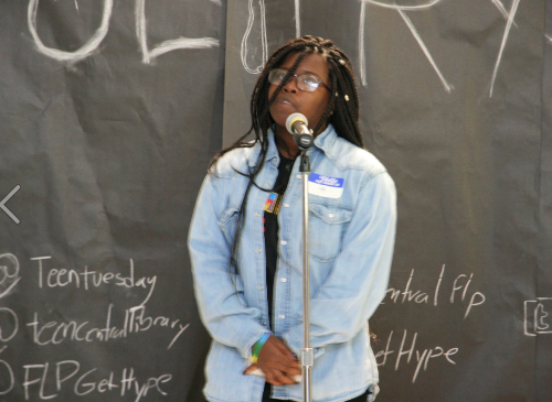 Participant in Free Library of Philadelphia Teen Poetry Slam event.