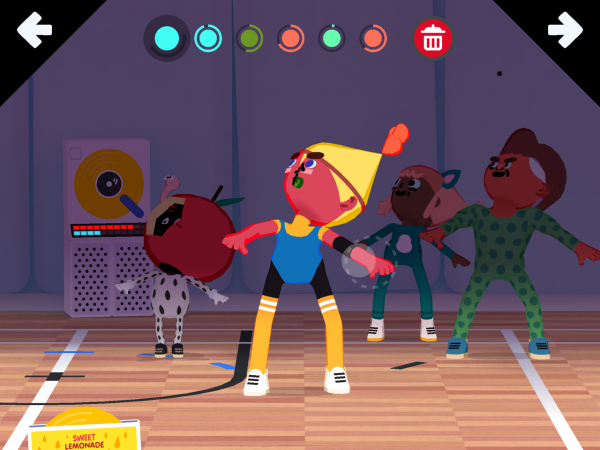 The instructor warms up her students in Toca Dance (Toca Boca)