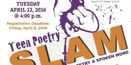 teen poetry slam flyer