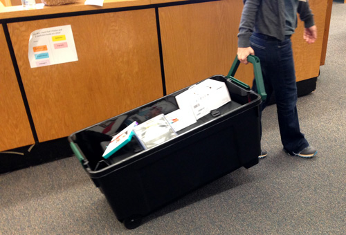 A maker cart on the move.