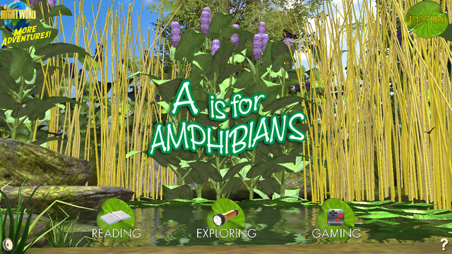 Screen from A is for Amphibian (Bright World ebooks)