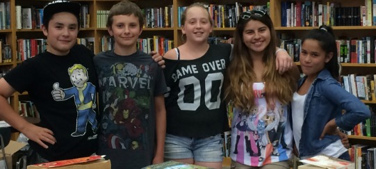 A few of the happy benefactors of Just. One. Book.
