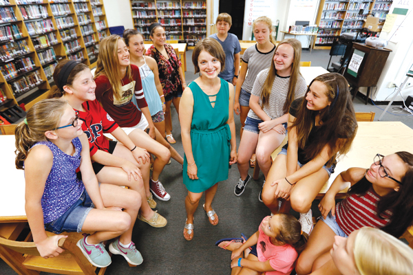 Gardner's library has more than 65 student volunteers.