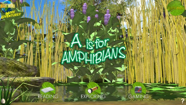 Screen from A Is for Amphibians (BrightWorld ebooks)