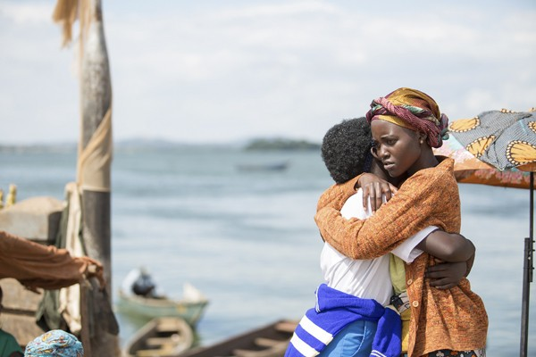 Madina Nalwanga, left, and Lupita Nyong'o in Queen of Katwe (Toronto International Film Festival)