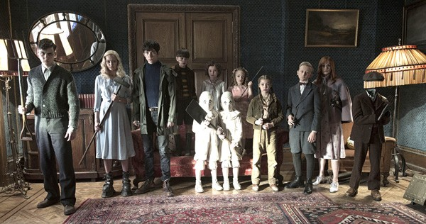 The residents of Miss Peregrine's Home for Peculiar Children, with Jake (Asa Butterfield), third from the left (Photo: Jay Maidment)