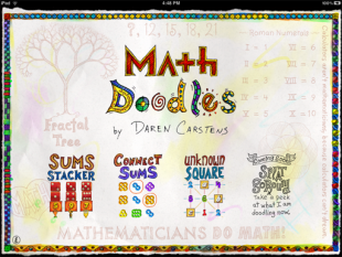 Screen from Math Doodles