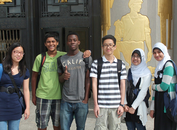 Teens participating in Brooklyn Public Library's T4 program Photo courtesy of Brooklyn Public Library