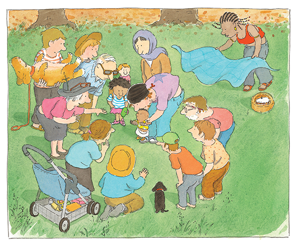 From OSCAR'S HALF BIRTHDAY. Text copyright © 2005 by Bob Graham. Reproduced by permission of the publisher, Candlewick Press, Somerville, MA on behalf of Walker Books, London.