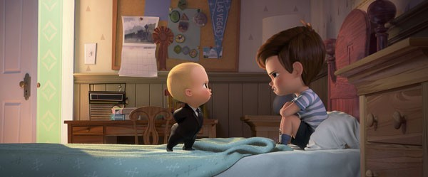 Boss Baby tries to convince Tim that they must cooperate (Photo Credit: DreamWorks Animation)