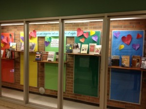 A display Jennifer Colby put up in her school lobby to encourage acceptance