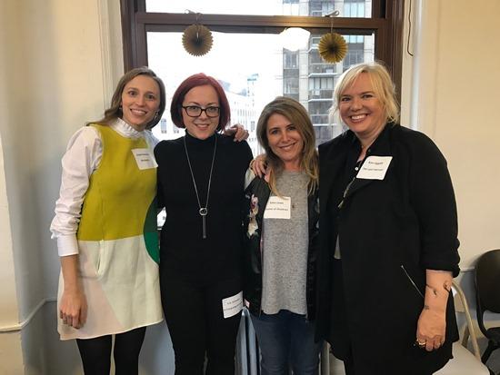 l. to r.: Susan Dennard, Victoria Schwab, Erika Lewis, and Kim Ligget.