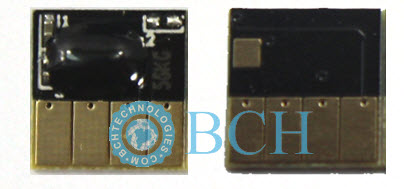 Front and back view of BCH HP 564 Chip