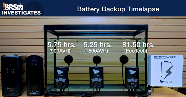 MP10 battery run time results