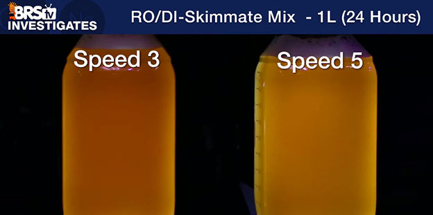 Skimmate samples 3 and 5 side by side