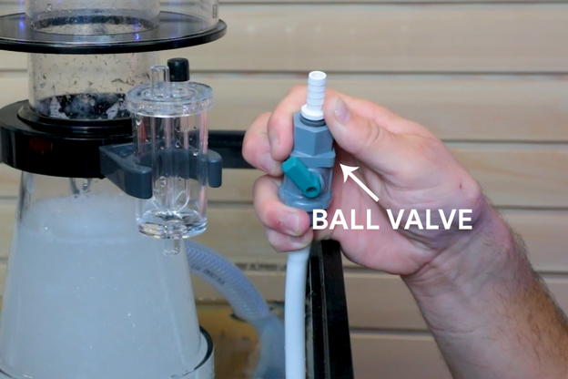 Using a ball valve for air adjustment