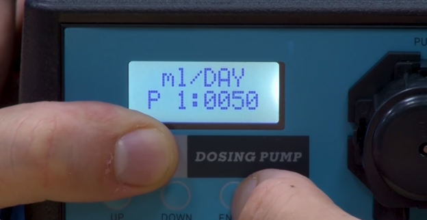 Programming a dosing pump