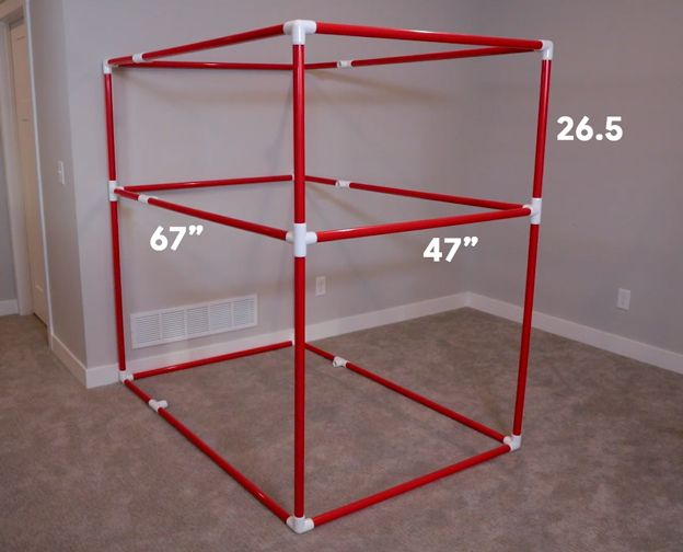 BRS360 Framed in PVC with Dimensions