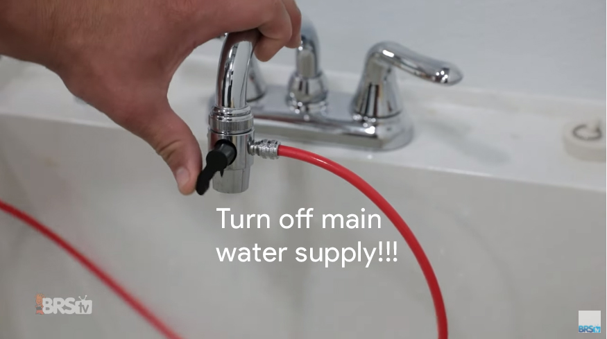 Step #1 - Turn off main water supply