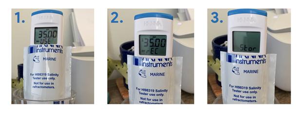 Hanna Instruments Salinity Tester Calibration