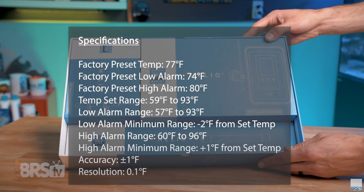 Control specifications for the Helio PTC heater controller