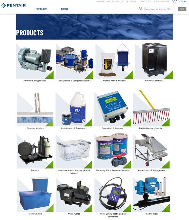 Pentair Aquatic EcoSystems Website